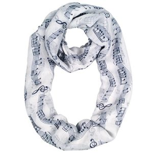 MissShorthair-Womens-Fashion-Music-Note-Print-Infinity-Scarf-Shawl-0